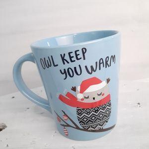 """Indigo """"Owl Keep You Warm"""" Oversized Mug"""
